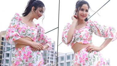 Katrina Kaif Looks As Beautiful As a Spring Bloom in Her Floral Co-Ord Set (View Pics)