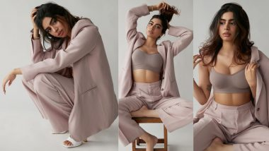Boss Lady Khushi Kapoor Dons Sexy Pastel Power Suit With Sports Bra and The Pictures Are Insanely Bold and Powerful