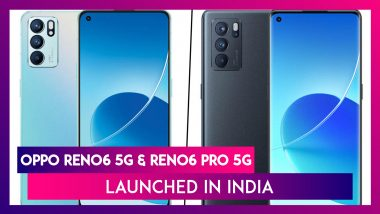 Oppo Reno6 & Reno6 Pro 5G Smartphones Launched in India