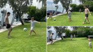 Lionel Messi Enjoys Football With Family and Friends During Vacation (Watch Video)