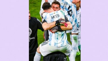 Copa America 2021: Lionel Messi Calls Emiliano Martinez 'A Phenomenon' After Goalkeeper's Heroic Performance in Shootout Victory