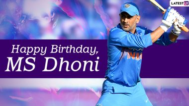 MS Dhoni Images & HD Wallpapers for Free Download: Happy 40th Birthday Dhoni Greetings, HD Photos in CSK & Team India Jersey and Positive Messages to Share Online