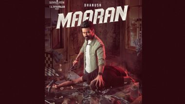 Maaran: Dhanush's Intense First Look From D43 Revealed on His Birthday (View Pic)
