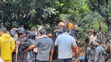 Monsoon Fury in India: Heavy Rainfall Wreaks Havoc in Maharashtra, Goa and Karnataka, Indian Navy, Army and Air Force Carry Out Flood Relief Operations
