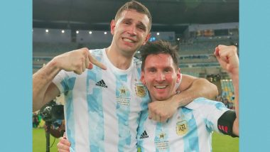 Watching Lionel Messi Play Made Me Better: Argentina Goalkeeper Emiliano Martinez on Winning Copa America 2021 With the Star Footballer