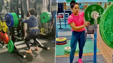 Tiger Shroff Tries To Lift 140 Kg Weight, Inspired By Mirabai Chanu's Silver Win At The Tokyo Olympics 2020 (Watch Video)