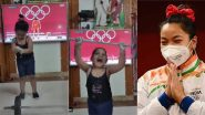 Junior 'Mirabai Chanu' Video Shared by Weightlifter Sathish Sivalingam, Tokyo Olympics 2020 Silver Medallist Tweets 'So Cute, Just Love This'