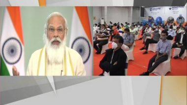 PM Narendra Modi Inaugurates Aquatics & Robotics Gallery, Nature Park in Gujarat Science City