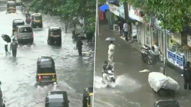 Mumbai Rains: Heavy Rainfall Causes Waterlogging in Several Parts (Watch Video)