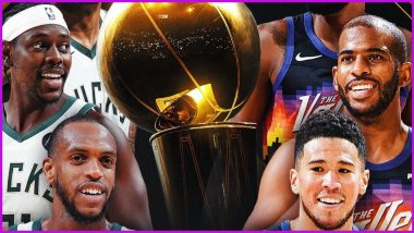 NBA Finals 2021 Live Streaming in India: Get Phoenix Suns vs Milwaukee Bucks Game 1 TV Telecast Details in IST and Online Viewing Option