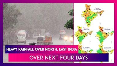 Heavy Rainfall Over North, East India Over Next Four Days Says IMD