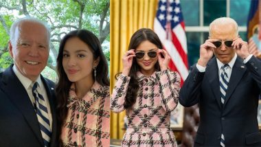 Olivia Rodrigo Meets POTUS Joe Biden at White House Urging Young People To Get Vaccinated Against COVID-19 (View Pics and Video)