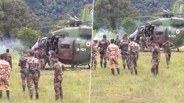 Indian Army's Heavy Vehicle Meets With Accident Between Pango & Palsi in Arunachal Pradesh, One Jawan Dead, Seven Seriously Injured (Watch Video)