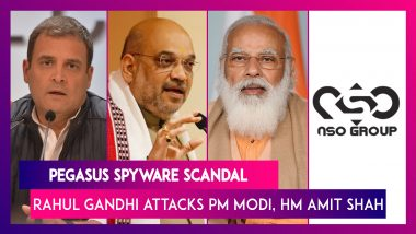 Pegasus Spyware Case: Rahul Gandhi Accuses PM Modi, HM Amit Shah Of 'Treason', Reveals He Knows His Phone Is Tapped