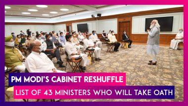 PM Modi's Cabinet Reshuffle: Harsh Vardhan, Ramesh Pokhriyal Resign; List Of 43 Ministers Who Will Take Oath