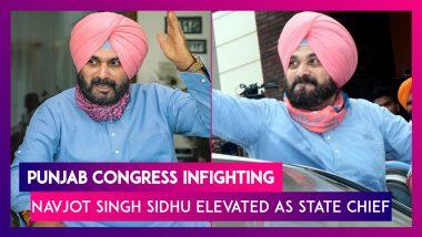 Punjab Congress Infighting: Navjot Singh Sidhu Elevated As State Chief