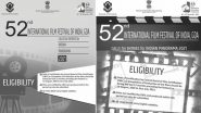 International Film Festival of India 2021: Last Date For Submitting Online Applications For Indian Panorama Entries is 12th August