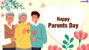 Parents' Day 2021 Images & HD Wallpapers for Free Download Online: Wish Happy Parents' Day With WhatsApp Messages, GIF Greetings and Facebook Quotes
