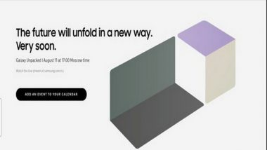 Samsung Likely To Unveil New Foldable Phones at 'Galaxy Unpacked' on August 11
