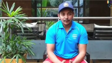 Tokyo Olympics 2020: Prithvi Shaw Cheers for Indian Athletes Participating at 32nd Summer Olympic Games (Watch Video)