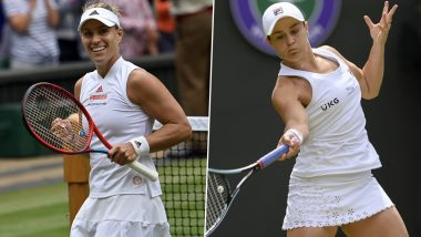 Ashleigh Barty vs Angelique Kerber, Wimbledon 2021 Live Streaming Online: How to Watch Free Live Telecast of Women's Singles Semi-Final Tennis Match in India?