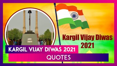 Kargil Vijay Diwas 2021 Quotes: Patriotic WhatsApp Messages and Facebook Images To Share on July 26