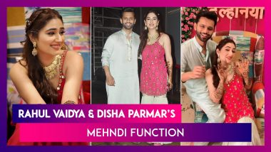 Rahul Vaidya's Dulhaniya Disha Parmar Looks Beautiful In A Pink Outfit At Her Mehndi Function, Pictures Go Viral