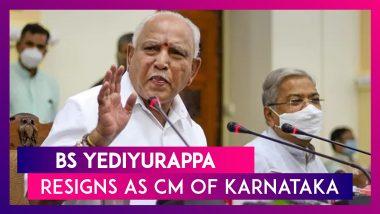 BS Yediyurappa Resigns As Chief Minister Of Karnataka; Breaks Down