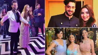 Rahul Vaidya-Disha Parmar Wedding Reception: Aly Goni and Jasmin Bhasin Pose With the Newlyweds; Shweta Tiwari Sizzles on the Dance Floor (Watch Videos)
