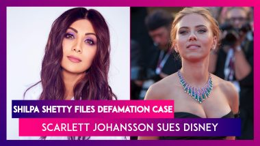 Shilpa Shetty Files Defamation Case Against News Media Houses, Sues For Rs 25 Crore In Damages In Raj Kundra Case; Scarlett Johansson Sues Disney Over Black Widow Release