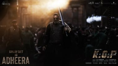 KGF Chapter 2: Makers Share a New Poster of Sanjay Dutt As Adheera on the Superstar's Birthday!