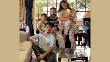 Sara Ali Khan and Fam Wishes Eid al-Adha to Fans but It's Saifeena's Tot Jeh Who Grabs the Attention (View Pic)