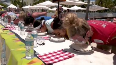 World Key Lime Pie Eating Championship: Twenty-five Contestants Plunge Face Down into Nine-inch Pies (Watch Video)