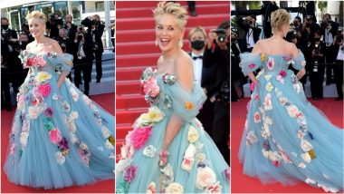 Cannes 2021: Sharon Stone Makes Jaw-Dropping Appearance in Elegant Dolce & Gabbana Floral Tulle Gown (View Pics)