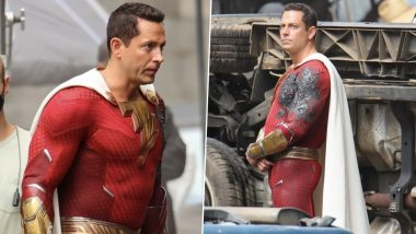 Shazam: Fury of The Gods Recent Set Leaks Give Us a New Look of Zachary Levi's Battle-Damaged Suit!