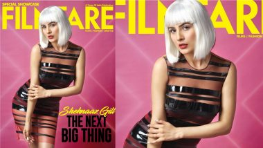 Shehnaaz Gill Puts On a Racy Display in See-Through Outfit and Platinum White Wig With Bangs for New Magazine Cover Shoot (View Pic)