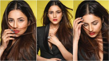 Shehnaaz Gill Flaunts a Hint of Cleavage In Black Blazer for Dabboo Ratnani Photoshoot Pictures