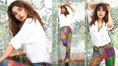 Shehnaaz Gill Pairs Classic White Shirt With Colourful Pants – Bookmark This Outfit Idea Now!