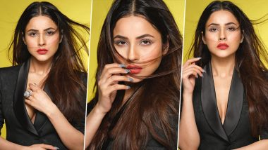 Shehnaaz Gill Is a Dabboo Ratnani Girl As She Poses in a Black Power Suit for the Lenses (View Pics)