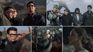 Shershaah At Kargil: Sidharth Malhotra, Kiara Advani, Karan Johar Celebrate Vijay Diwas With Indian Soldiers At The Trailer Launch Event (Watch Video)