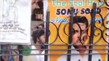 Sonu Sood Fans Wait Outside His Residence To Wish The Actor On His Birthday (Watch Video)