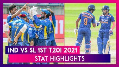 IND vs SL Stat Highlights 1st T20I 2021: India Register Comprehensive Win