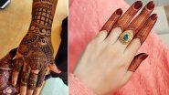 New Mehndi Designs for Raksha Bandhan 2021: Easy Arabic, Indian, Rajasthani, Floral, Bracelet-style Mehendi Designs to Celebrate Rakhi Festival