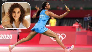 Tokyo Olympics 2020: Taapsee Pannu Lauds Badminton Star PV Sindhu After She Beats Denmark's Mia Blichfeldt to Reach Women's Singles Quarterfinals