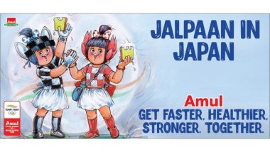 Amul Topical on Tokyo Olympics 2020 Shows Mascots Miraitowa and Someity-Inspired Utterly Butterly Girls (View Ad)