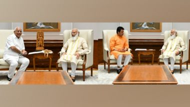 Tripura CM Biplab Kumar Deb, Karnataka CM BS Yediyurappa Meet PM Narendra Modi to Discuss Development Projects