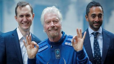 Virgin Galactic Spaceship 'Unity 22' Returns to Earth From Space With Richard Branson, Crew