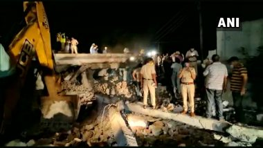 Gurgaon Building Collapse: 5 to 6 Workers Feared Trapped Under Debris After Three-Storey Building Collapses in Manesar
