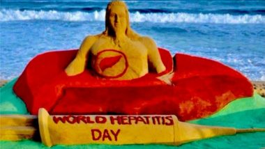 World Hepatitis Day 2021: Sudarsan Pattnaik Makes Remarkable Sand Art To Raise Awareness About Hepatitis on This Important Health Day