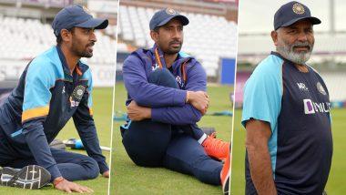 Wriddhiman Saha, Abhimanyu Easwaran and Bowling Coach Bharat Arun Join Indian Team in Durham Ahead of England Tests